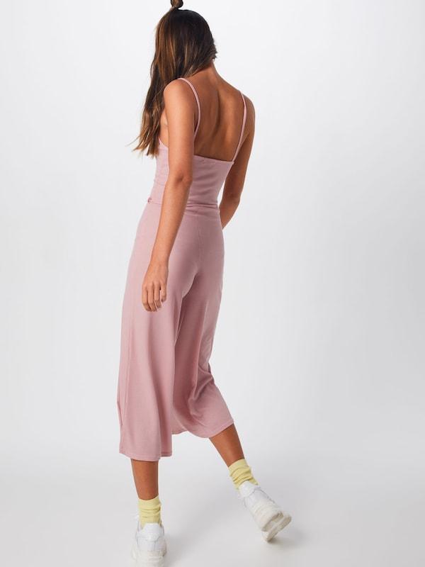 Combinaison 'rib Jumpsuit' Missguided Culotte Rose En wOP0Xn8k