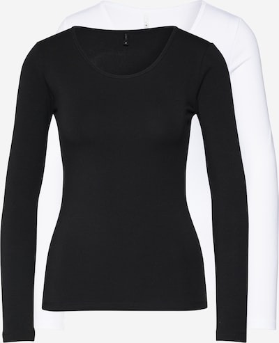 ONLY T-shirt en noir / blanc, Vue avec produit