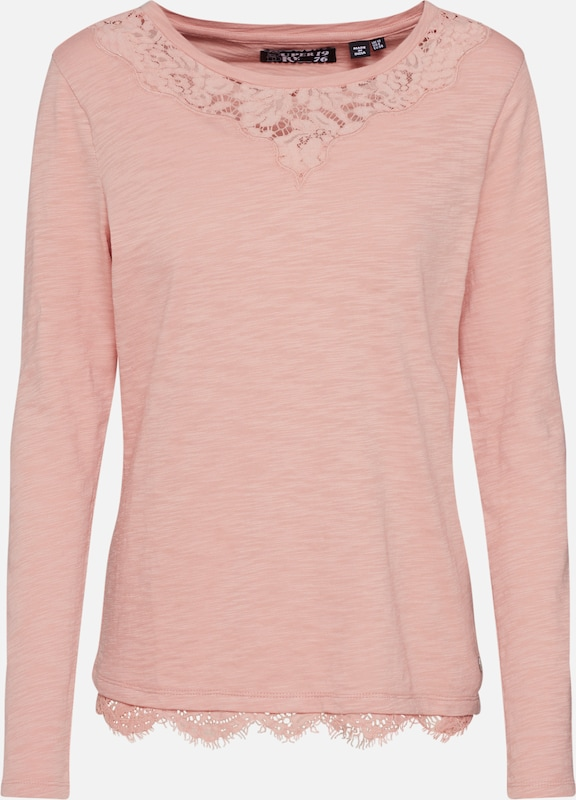 Superdry Shirt 'ELLIS LACE TOP' in rosa: Frontalansicht
