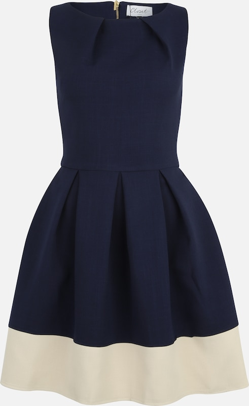 Closet London Cocktailkleid in navy, Produktansicht