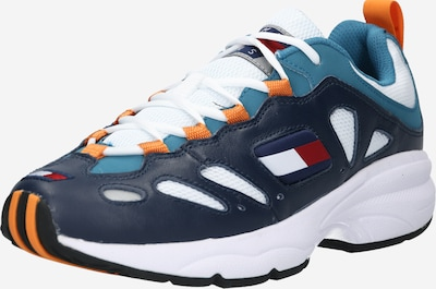 Tommy Jeans Sneakers laag in de kleur Donkerblauw / Rood / Wit, Productweergave