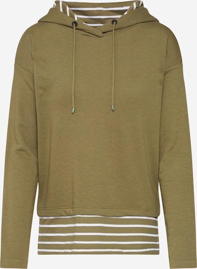 ONLY Sweatshirt  'ONLFMARINA ' in oliv / weiß, Produktansicht