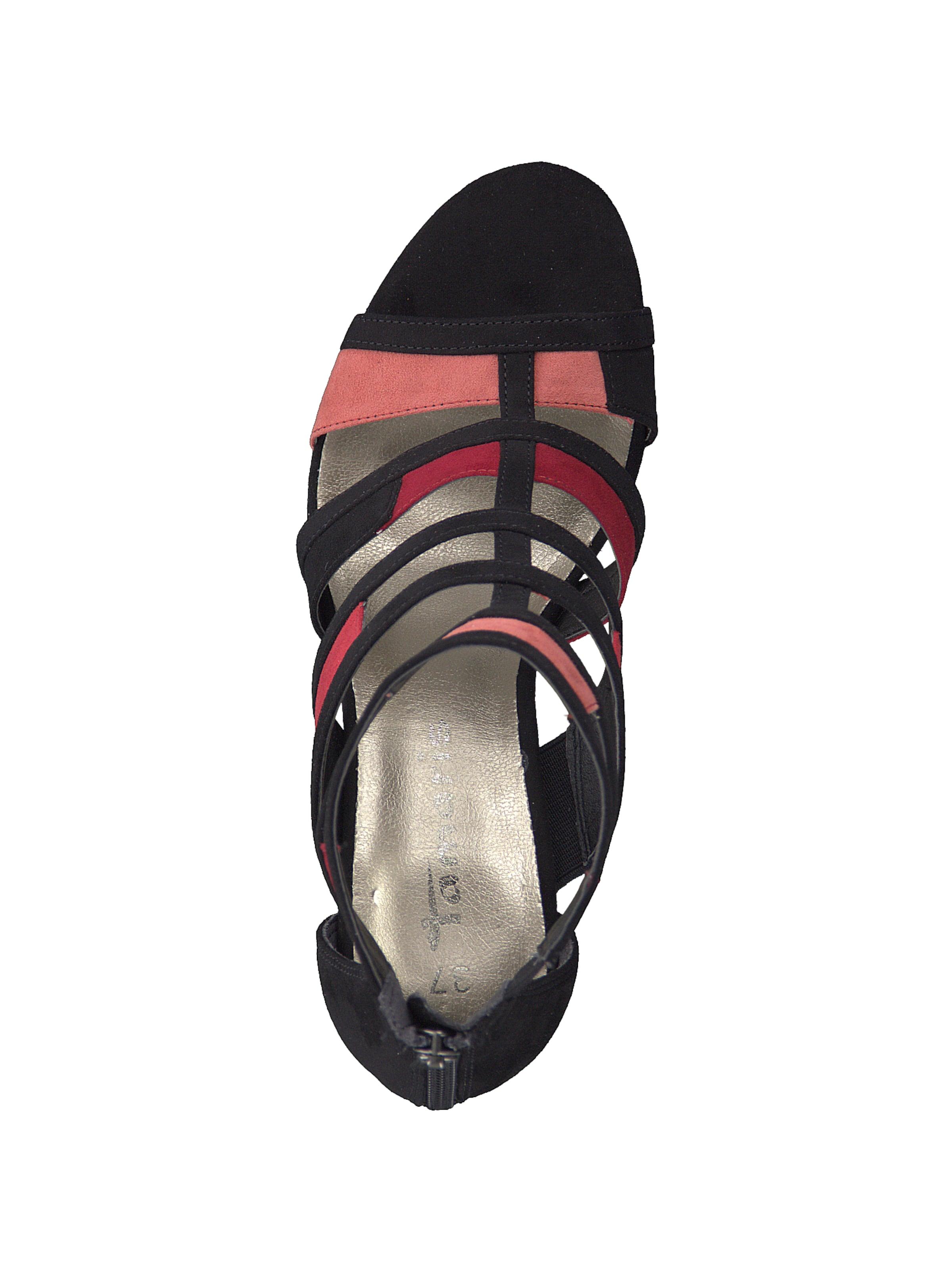 À RoseNoir Tamaris Sandales Heel Coloured' Lanières 'strappy En 5Rj4AL3