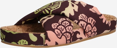 SCOTCH & SODA Pantolette 'Yolin' in braun / grün / rosa, Produktansicht