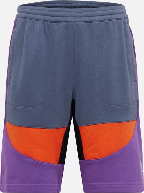 ADIDAS ORIGINALS Shorts in dunkelgrau / lila / orange, Produktansicht