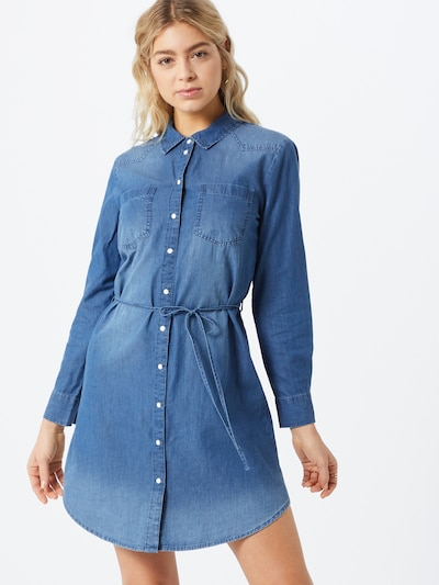 JACQUELINE de YONG Blousejurk 'JDYBILL' in de kleur Blauw denim, Modelweergave