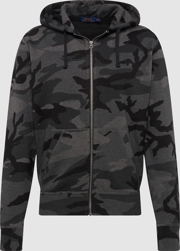 POLO RALPH LAUREN Sweatjacke 'LSFZM3-LONG SLEEVE-KNIT' in grau   anthrazit  Markenkleidung für Männer und Frauen