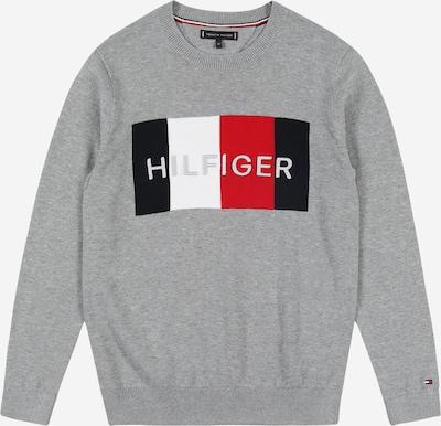 Megztinis be užsegimo iš TOMMY HILFIGER , spalva - mėlyna / margai pilka / raudona / balta, Prekių apžvalga