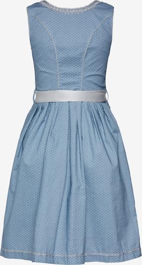 MARJO Dirndl 'Farina' in de kleur Blauw: Achteraanzicht
