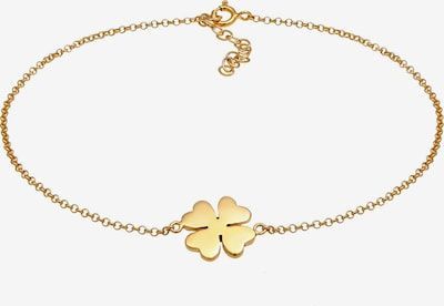 ELLI Fußschmuck 'Kleeblatt' in gold, Produktansicht