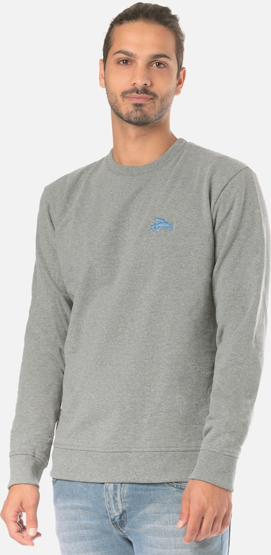 PATAGONIA Outdoorpullover 'Small Flying Fish Uprisal Crew' in graumeliert  Neu in diesem Quartal