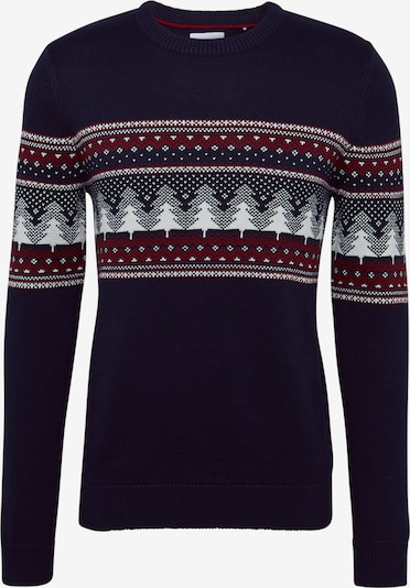 EDC BY ESPRIT Pullover 'F christmas cnk' in navy, Produktansicht