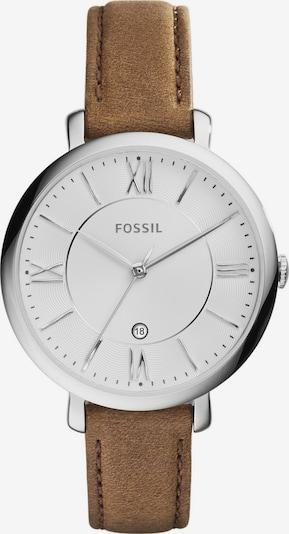 FOSSIL Uhr 'JACQUELINE' in karamell / silber, Produktansicht