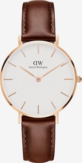 Daniel Wellington Uhr 'Petite St Mawes DW00100175' in braun / rosegold / weiß: Frontalansicht