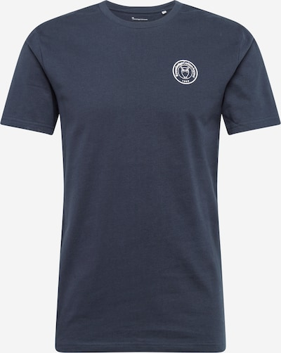 KnowledgeCotton Apparel Shirt 'Alder' in dunkelblau / weiß: Frontalansicht