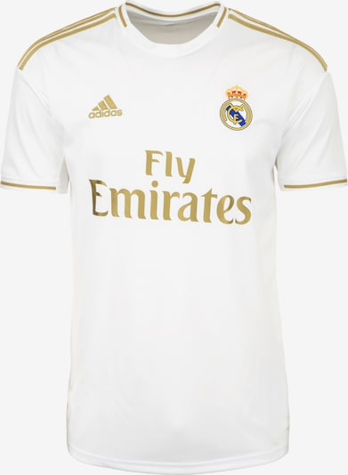 ADIDAS PERFORMANCE Heimtrikot 'Real Madrid' in gold / weiß, Produktansicht