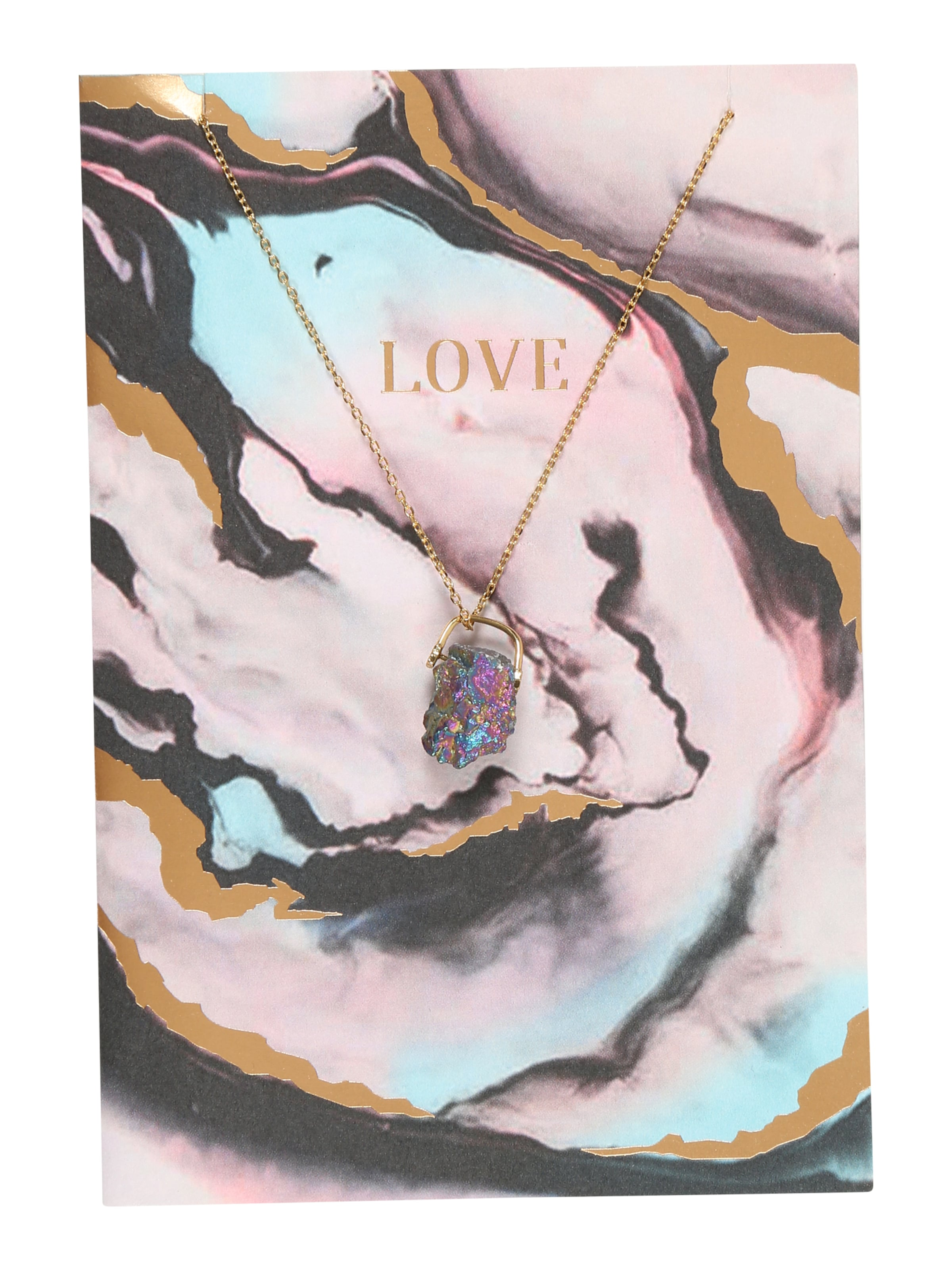 Orelia Grußkarte 'LOVE Quartz Necklace Giftcard' Auslass Empfehlen Günstig Kaufen Kauf ShNoB