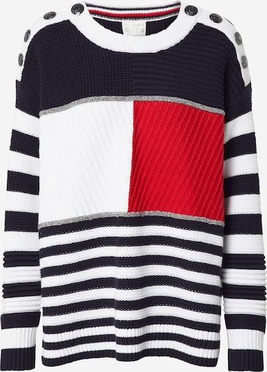 TOMMY HILFIGER Pullover 'KENYA' in nachtblau / rot / weiß, Produktansicht