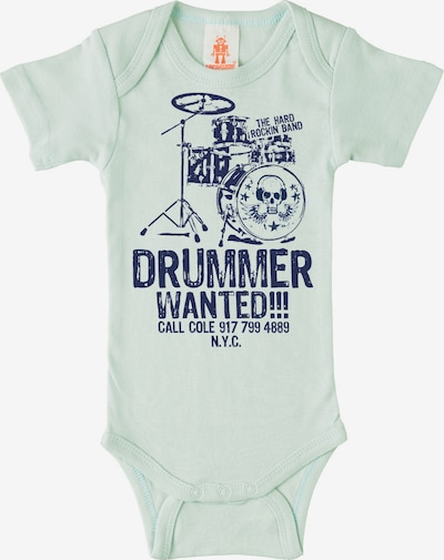"LOGOSHIRT Body ""Drummer Wanted"" in navy / perlweiß, Produktansicht"