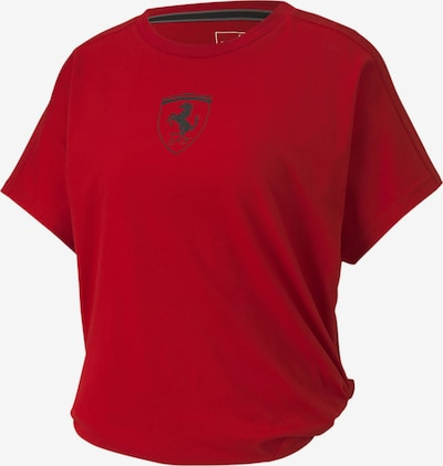 PUMA Ferrari Big Shield Damen T-Shirt in rot / schwarz, Produktansicht