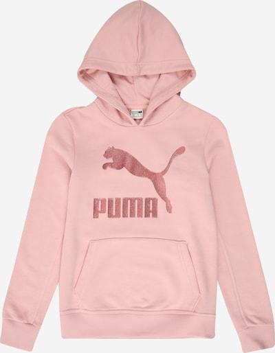 PUMA Sweat-shirt 'Classics Logo' en pêche, Vue avec produit