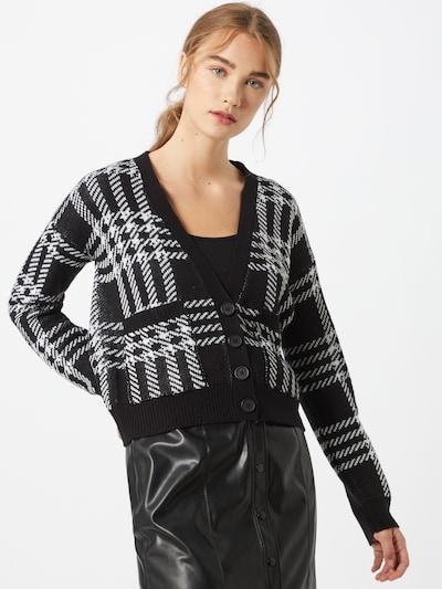 Noisy may Cardigan in schwarz / weiß, Modelansicht