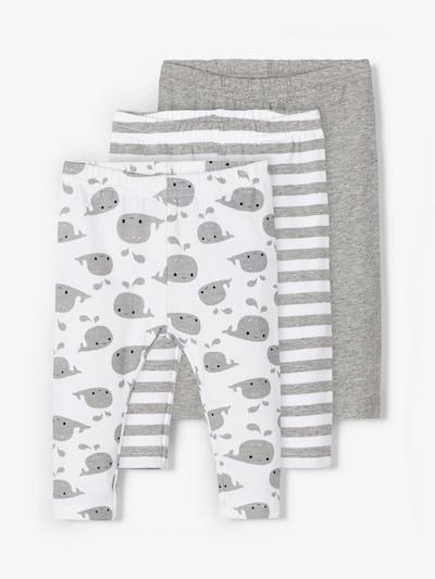 NAME IT Leggings in graumeliert / weiß, Produktansicht