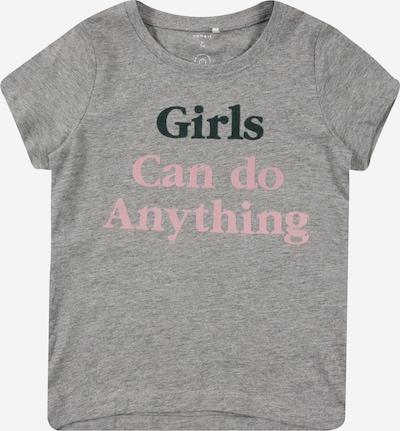 NAME IT Koszulka 'KEXHALE' w kolorze nakrapiany szary / różowy pudrowy / czarnym, Podgląd produktu