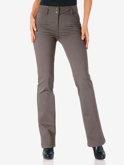 heine Bodyform-Bootcut-Hose in taupe, Modelansicht