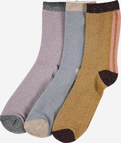 BeckSöndergaard Socken 'W.7' in rauchblau / hellbraun / lila, Produktansicht