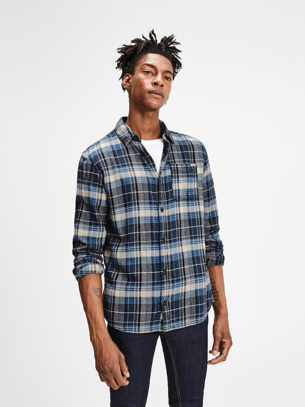 JACK & JONES Lässiges Langarmhemd