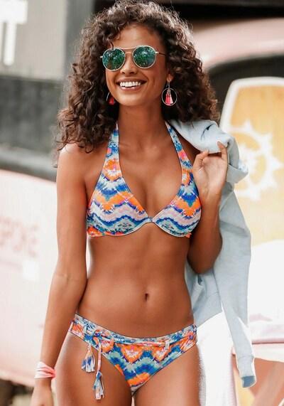 VENICE BEACH Bikinihose in blau / pink, Modelansicht
