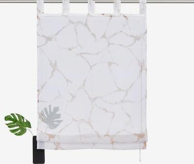 MY HOME Raffrollo in sand / weiß, Produktansicht