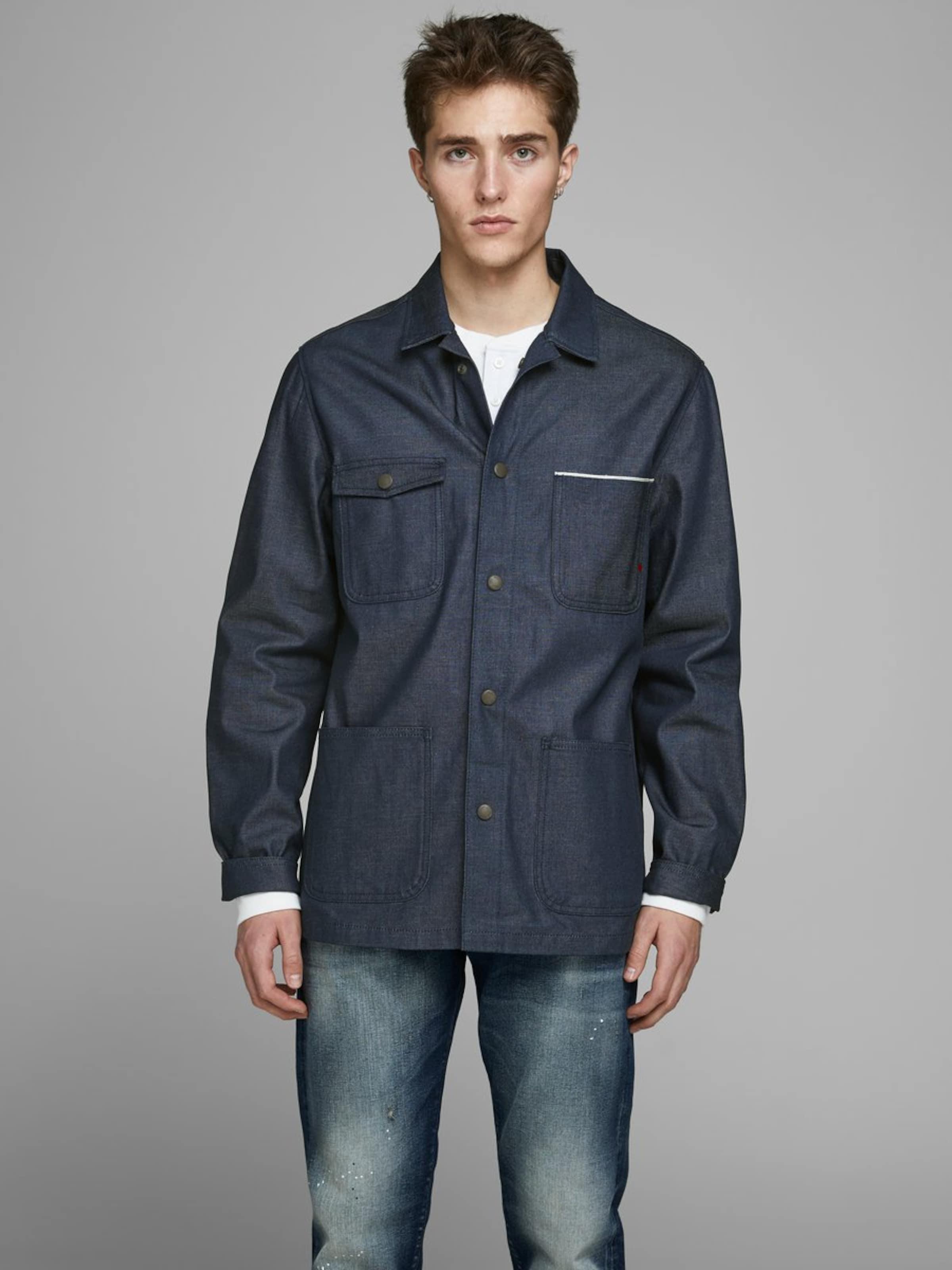 JACK & JONES Jacke in blue denim Jeans 5714501488681