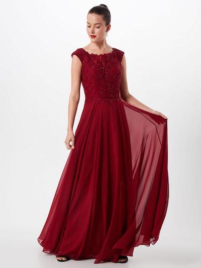 LUXUAR Abendkleid in bordeaux, Modelansicht