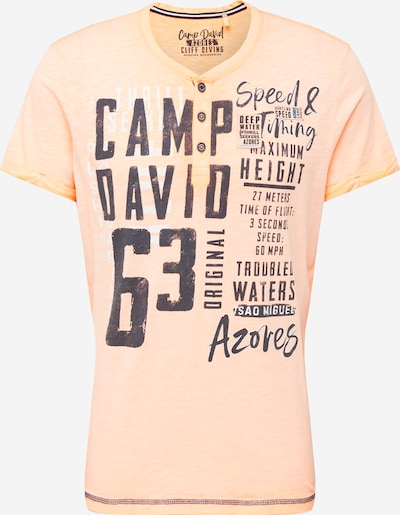 CAMP DAVID T-Shirt in dunkelblau / pastellorange, Produktansicht