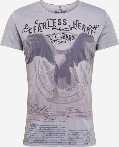 Key Largo T-Shirt 'MT FEARLESS' in silbergrau, Produktansicht