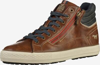 MUSTANG Sneakers hoog in de kleur Navy / Bruin, Productweergave