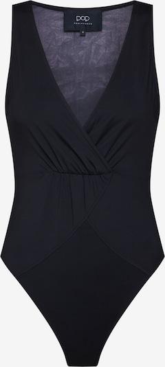 Pop Copenhagen Topbody 'Draped Bodystocking' in schwarz, Produktansicht