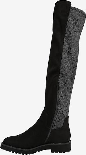 Ilgaauliai batai virš kelių 'Finja' iš bugatti , spalva - pilka / juoda: Vaizdas iš šono