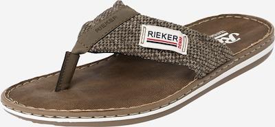 RIEKER Sandale in schlammfarben / khaki, Produktansicht