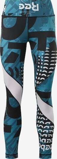 REEBOK Sporthose in tanne / schwarz / weiß, Produktansicht