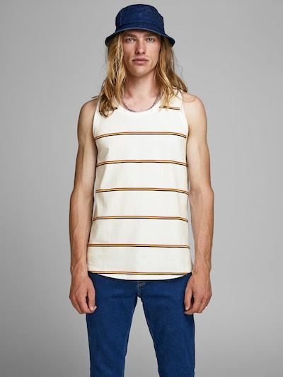 JACK & JONES T-Shirt en citron vert / rouge rouille / noir / blanc naturel: Vue de face
