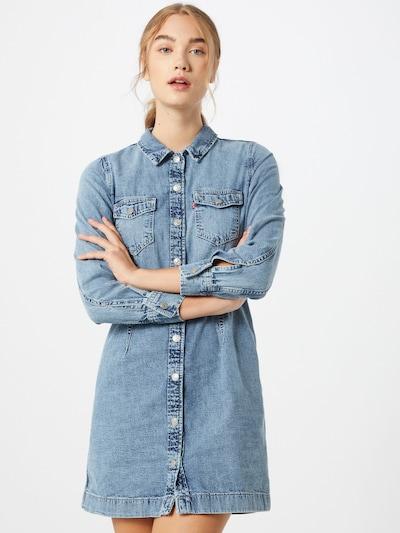 LEVI'S Robe-chemise 'ELLIE' en bleu denim, Vue avec modèle