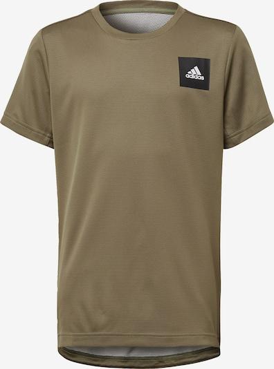 ADIDAS PERFORMANCE T-Shirt 'Aero' in hellbraun / schwarz / weiß, Produktansicht