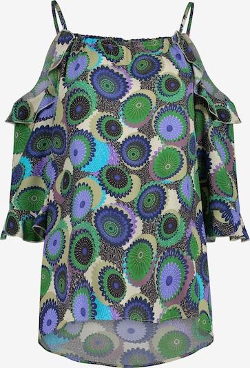 Nicowa Bluse 'Nedero' in grün / mischfarben, Produktansicht