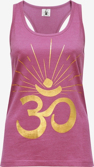 "YOGISTAR.COM Yoga-Top ""om Sunray"" in pink, Produktansicht"