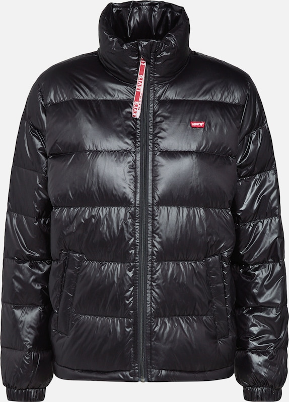 LEVI'S Winterjas 'FRANCINE DOWN PACKABLE JACKET' in de kleur Zwart, Productweergave
