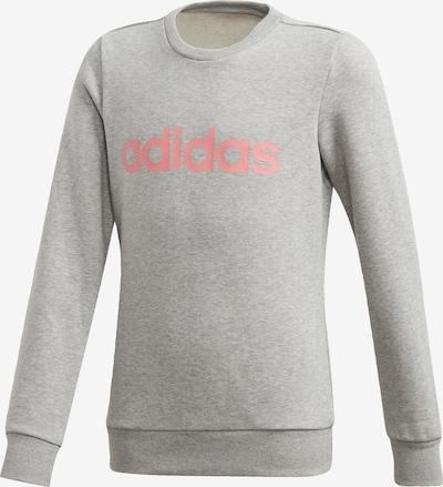 ADIDAS PERFORMANCE Sweatshirt  'Linear' in graumeliert / pastellpink, Produktansicht