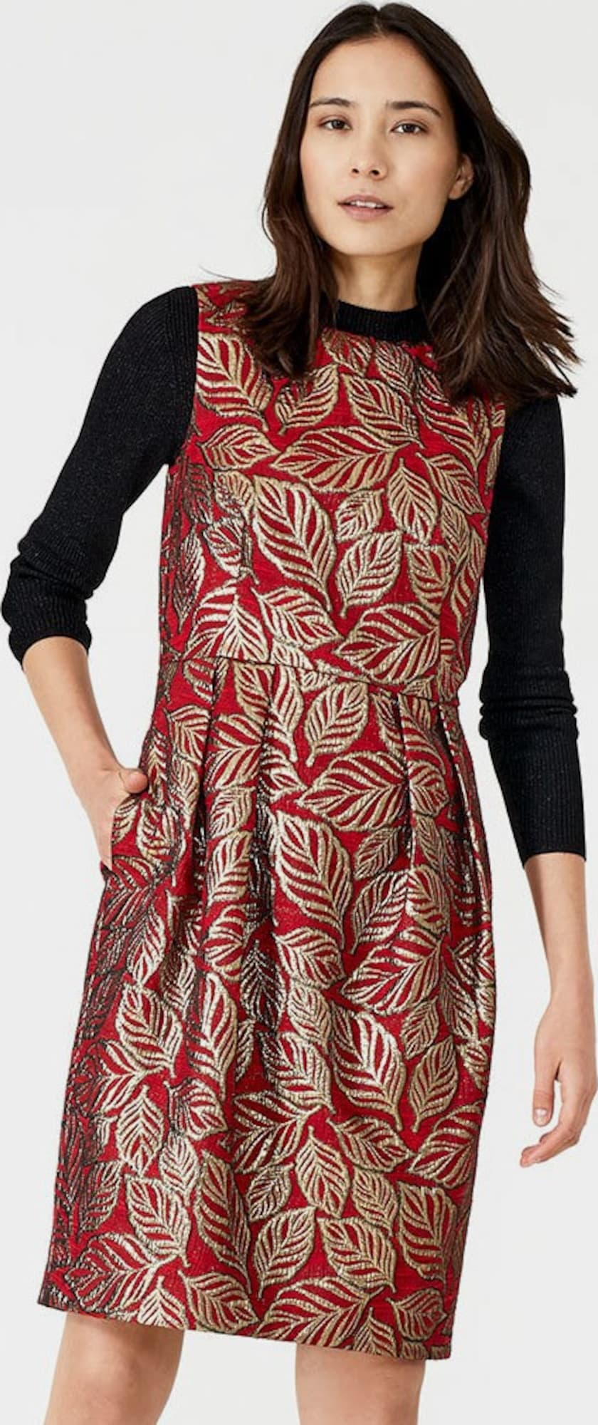 HALLHUBER Jacquard-Kleid in rot | ABOUT YOU